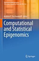 Computational and statistical epigenomics [electronic resource]