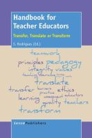 Handbook for teacher educators [electronic resource] : transfer, translate or transform
