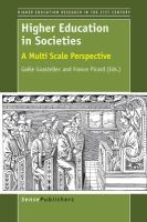 Higher education in societies [electronic resource] : a multi scale perspective