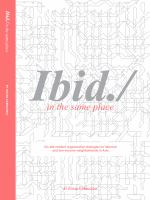 Ibid./ : in the same place : nine lessons and six possibilities about on-site resilient revitalisation strategies for informal neighbourhoods