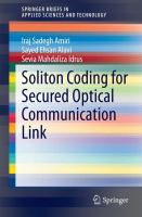Soliton Coding for Secured Optical Communication Link [electronic resource]