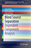Blind Source Separation [electronic resource] : Dependent Component Analysis