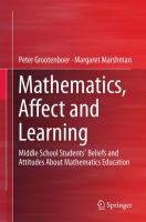 Mathematics, affect and learning [electronic resource] : middle school students' beliefs and attitudes about mathematics education