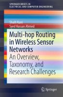 Multi-hop Routing in Wireless Sensor Networks [electronic resource] : An Overview, Taxonomy, and Research Challenges