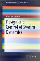 Design and Control of Swarm Dynamics [electronic resource]