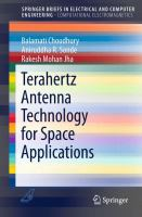 Terahertz Antenna Technology for Space Applications [electronic resource]