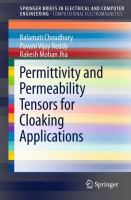 Permittivity and Permeability Tensors for Cloaking Applications [electronic resource]