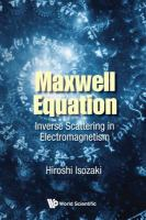 Maxwell equation : inverse scattering in electromagnetism /
