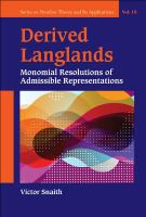 Derived Langlands : monomial resolutions of admissible representations /