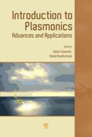 Introduction to plasmonics : advances and applications