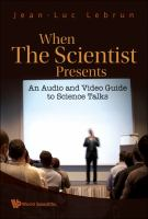 When the scientist presents: an audio and video guide to science talks cover