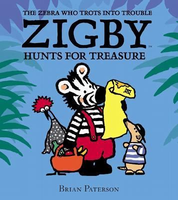 Cover image for Zigby hunts for treasure