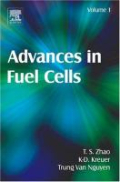 Advances in fuel cells için kapak resmi