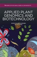 Applied plant genomics and biotechnology için kapak resmi