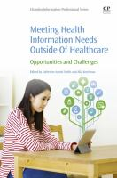 Meeting health information needs outside of healthcare : opportunities and challenges için kapak resmi