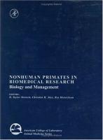 Nonhuman primates in biomedical research için kapak resmi