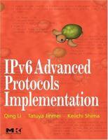IPv6 advanced protocols implementation için kapak resmi