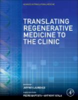 Translating regenerative medicine to the clinic için kapak resmi
