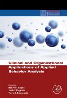 Clinical and organizational applications of applied behavior analysis için kapak resmi
