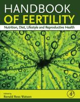 Handbook of fertility : nutrition, diet, lifestyle and reproductive health için kapak resmi