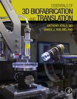Essentials of 3D Biofabrication and Translation için kapak resmi