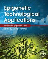 Epigenetic technological applications için kapak resmi