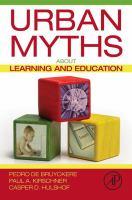 Urban Myths about Learning and Education için kapak resmi