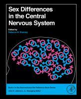 Sex differences in the central nervous system için kapak resmi