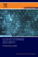 Cloud storage security : a practical guide için kapak resmi