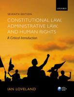 Constitutional law, administrative law, and human rights : a critical introduction için kapak resmi