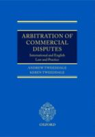Arbitration of commercial disputes : international and English law and practice için kapak resmi