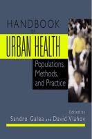 Handbook of Urban Health Populations, Methods, and Practice için kapak resmi