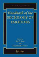 Handbook of the Sociology of Emotions için kapak resmi