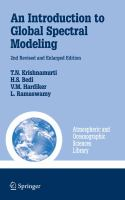 An Introduction to Global Spectral Modeling için kapak resmi