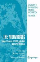 The Nidoviruses Toward Control of SARS and other Nidovirus Diseases için kapak resmi
