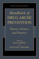 Handbook of Drug Abuse Prevention için kapak resmi