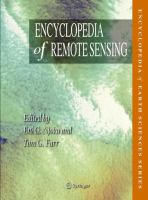 Encyclopedia of Remote Sensing için kapak resmi