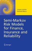 Semi-Markov Risk Models for Finance, Insurance and Reliability için kapak resmi