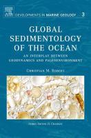 Global sedimentology of the ocean an interplay between geodynamics and paleoenvironment için kapak resmi