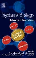 Systems biology philosophical foundations için kapak resmi