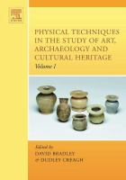 Physical techniques in the study of art, archaeology and cultural heritage için kapak resmi