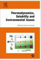 Thermodynamics, solubility and environmental issues için kapak resmi
