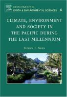 Climate, environment and society in the Pacific during the last millennium için kapak resmi