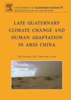 Late quaternary climate change and human adaptation in arid China için kapak resmi