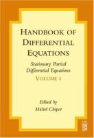 Handbook of differential equations stationary partial differential equations için kapak resmi