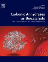 Carbonic anhydrases as biocatalysts : from theory to medical and industrial applications için kapak resmi
