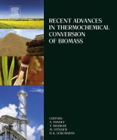 Recent advances in thermochemical conversion of biomass için kapak resmi