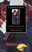 The Cambridge companion to Ezra Pound için kapak resmi