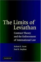 The limits of Leviathan : contract theory and the enforcement of International Law için kapak resmi
