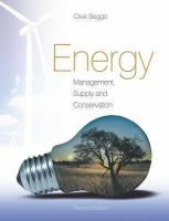Energy management, supply and conservation için kapak resmi